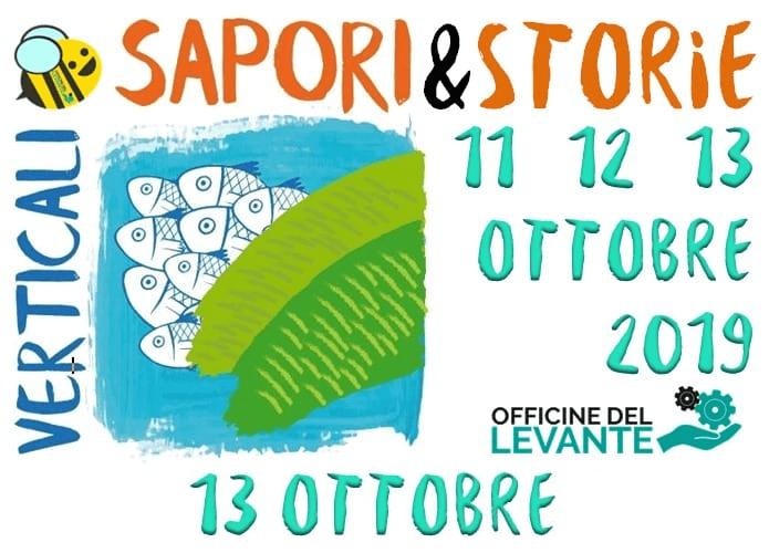 Sapori & Storie Verticali. Il programma di domenica 13 ottobre